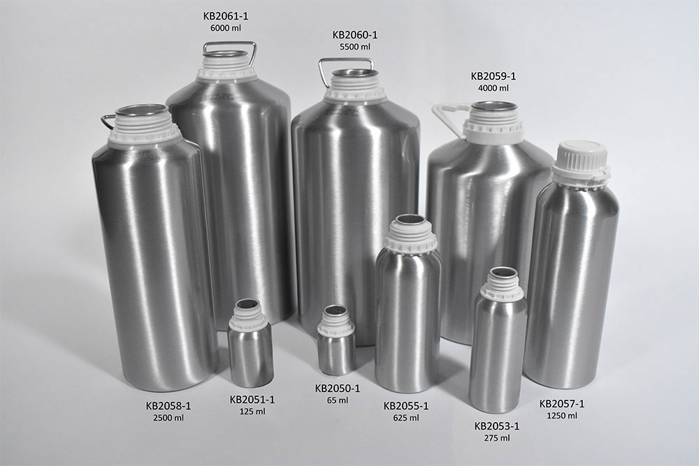 Narrow Mouth Aluminum Bottles